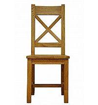 Barrow Clark - Hamilton Oak Cross Back Chair Wooden Seat