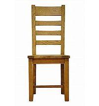 Barrow Clark - Hamilton Oak Ladder Back Chair Wooden Seat
