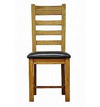Barrow Clark - Hamilton Oak Ladder Back Chair PU Seat