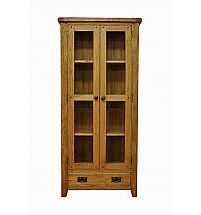Barrow Clark - Hamilton Oak Display Cabinet with Glazed Doors + Sides