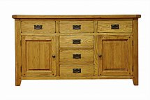 Barrow Clark - Hamilton Oak 2 Door 6 Drawer Sideboard