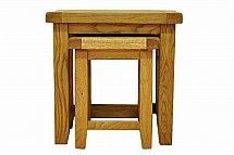 Barrow Clark - Hamilton Oak Nest of 2 Tables