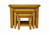 Barrow Clark - Hamilton Oak Nest of 3 Tables