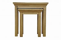 Barrow Clark - Devon Oak Nest of 2 Tables