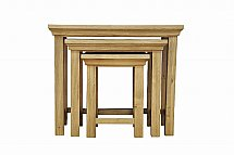 Barrow Clark - Devon Oak Nest of 3 Tables