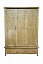 Barrow Clark - Devon Oak Triple Wardrobe