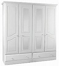 Barrow Clark - Shirwell 4 Door 2 Drawer Wardrobe