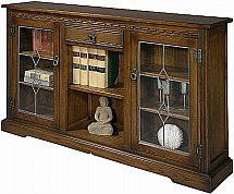 Old Charm - OC 2793 Low Bookcase with Glass Doors