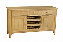 Stag - New England Sideboard with Wine Rack