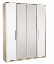 Kingstown - Azure Tall 4 Door Centre Mirrored Wardrobe