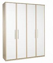 Kingstown - Azure Tall 4 Door Bi-Fold Wardrobe
