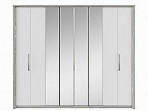 Kingstown - Cosmos 8 Door Centre Mirror Bi-Fold Robe - Oak + White