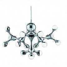 13993/Searchlight/D-N-A-Chrome-15-LED-Pendant