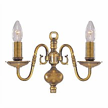13994/Searchlight/Flemish-Solid-Antique-Brass-2-light-wall-Light