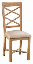 Barrow Clark - Avon Double Cross Back Chair Fabric Seat