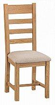 Barrow Clark - Avon Ladder Back Chair Fabric Seat