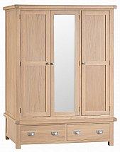 Barrow Clark - Dart 3 Door Wardrobe with Mirror