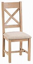 Barrow Clark - Dart Cross Back Chair Fabric Seat