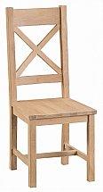 Barrow Clark - Dart Cross Back Chair Wooden Seat