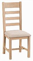 Barrow Clark - Dart Ladder Back Chair - Fabric Seat