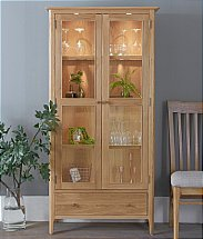 Barrow Clark - Grace Oak Display Cabinet with Lights