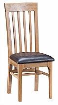 Barrow Clark - Grace Oak Slat Back Chair PU Seat