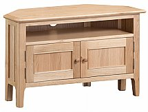 Barrow Clark - Grace Oak Corner TV Cabinet