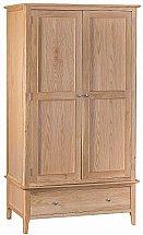 Barrow Clark - Grace Oak 2 Door 1 Drawer Wardrobe
