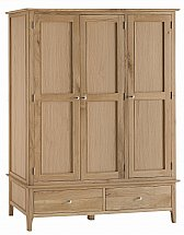 Barrow Clark - Grace Oak 3 Door 2 Drawer Wardrobe