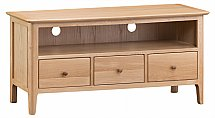 Barrow Clark - Grace Oak Large TV Cabinet