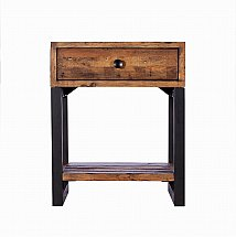 Barrow Clark - Loft Living 1 Drawer Lamp Table