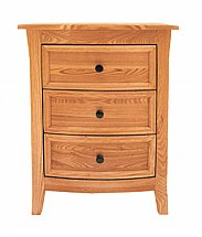 Barrow Clark - Bow 3 Drawer Bedside Table