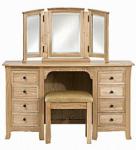 Barrow Clark - Bow Dressing Table with Gallery Mirror