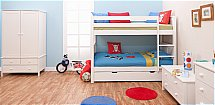 Stompa - Classic Kids Bunk Bed with Trundle Bed