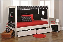 Stompa - Play Day Bed in Black - Pirate