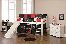Stompa - Play Mid Sleeper - Black Pirate - Slide and Tent
