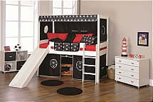 Stompa - Play Mid Sleeper with Slide in Black Pirate and den Kit