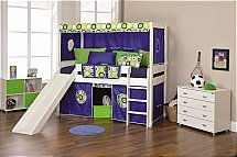 Stompa - Play Mid Sleeper with Slide in Blue Oasis and den Kit