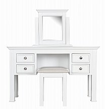 Barrow Clark - Cheltenham Painted  Dressing Table with Mirror and Stool