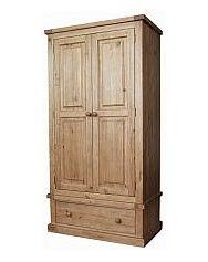 Barrow Clark - Gloucester 2 Door 1 Drawer Wardrobe