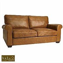 Halo - Hudson 3 Seater Leather Sofa