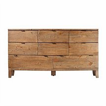 Barrow Clark - Driftwood 8 Drawer Wide Chest