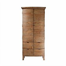 Barrow Clark - Driftwood Small Double Wardrobe