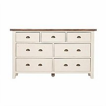 Barrow Clark - French Country 7 Drawer Wide Chest