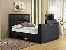 TVbeds - Harvard  iAudio Single TV Bed - Black