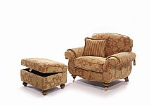 Barrow Clark - Westbury Armchair and Foot Stool