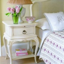 Willis and Gambier - Ivory Bedside Table