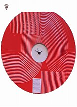 3900/BilliB-Tangerine-Round-Wall-Clock