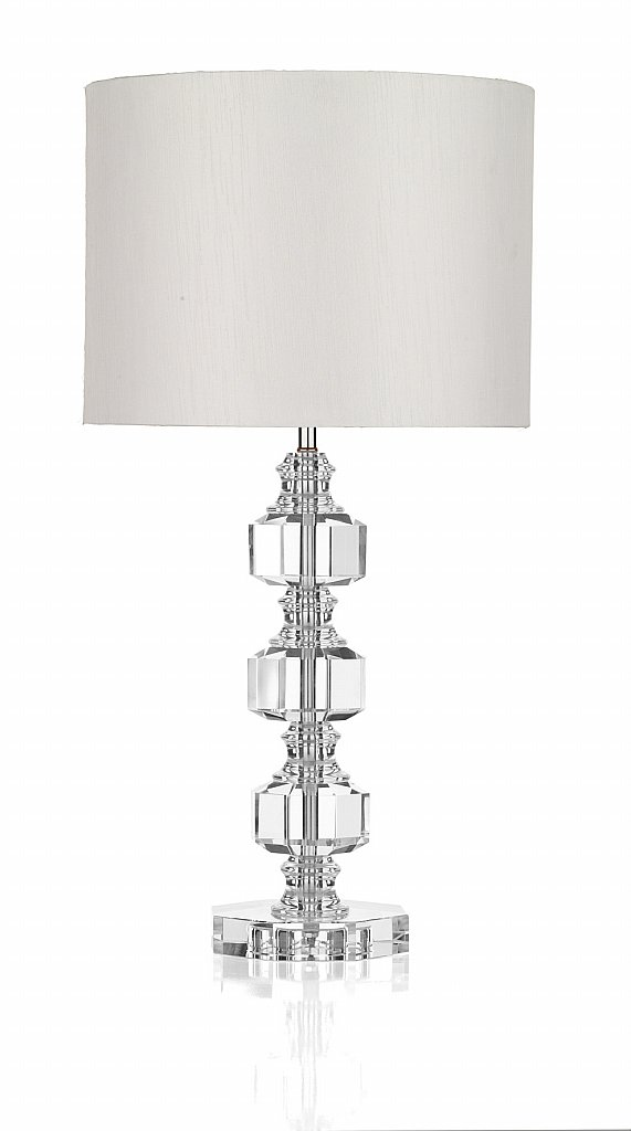 Dar Lighting - Acton  3 Piece Crystal Table Lamp with Shade