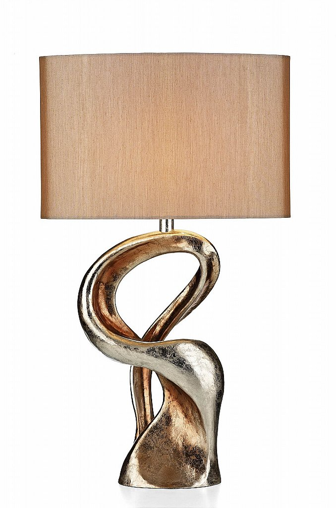 Dar Lighting - Alchemy Table Lamp complete with Gold Shade